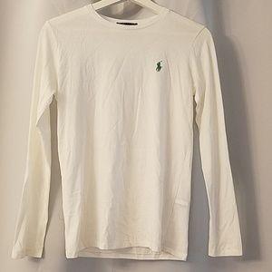 Polo white long sleeve T shirt